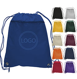 Polyester Drawstring with Zipper Front Pocket