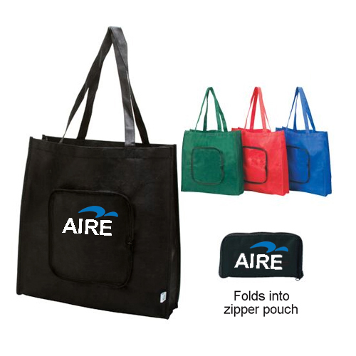 Reusable Grocery Tote with Open Front Pocket