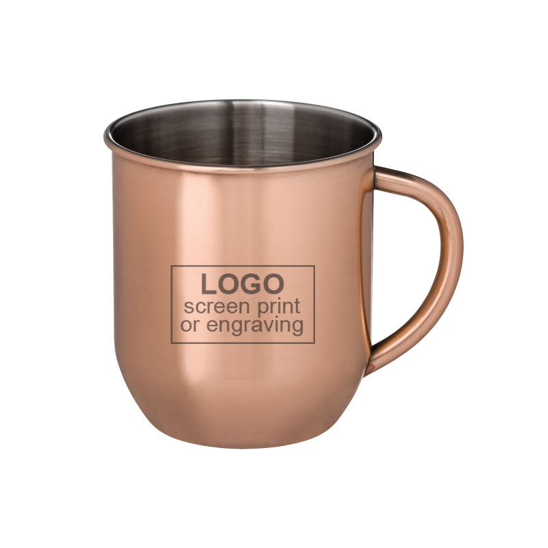 17 oz Copper Plated Stainless Moscow Mule Mug
