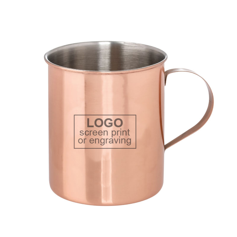 12 oz Copper Plated Stainless Moscow Mule Mug