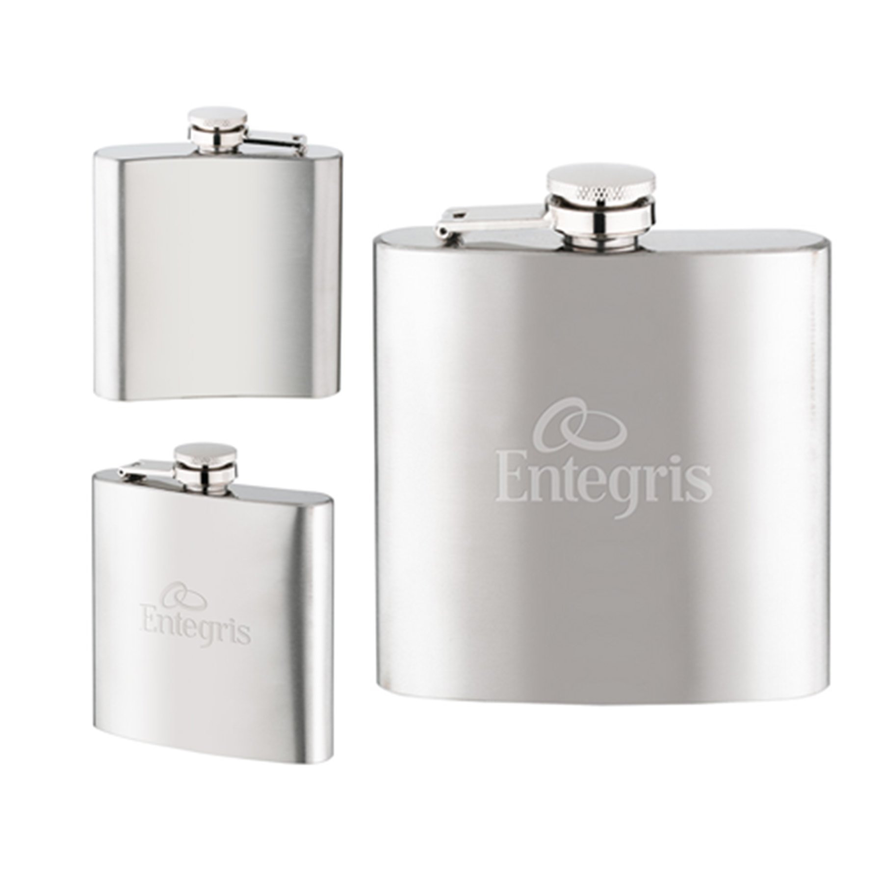 Brushed Metal Stainless Steel Hip Flask
