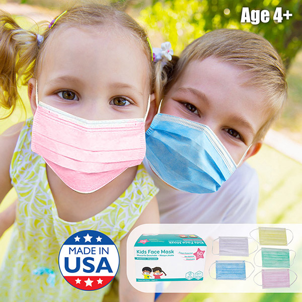 Children Size 3 Ply Disposable Face Mask