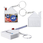 House Shaped Tape Measure with Key Chain