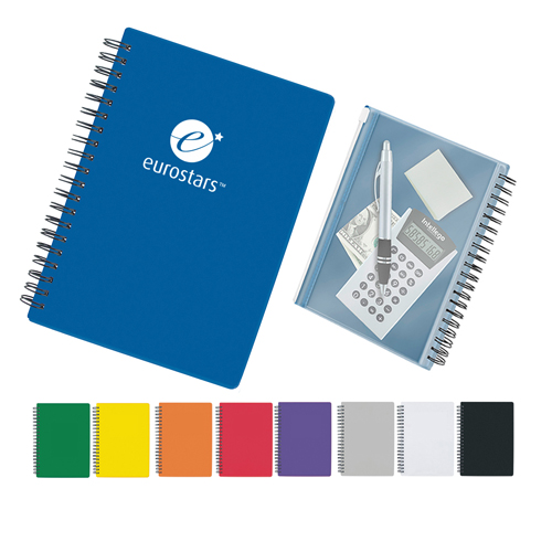 80 Page Spiral Notebook with Pocket