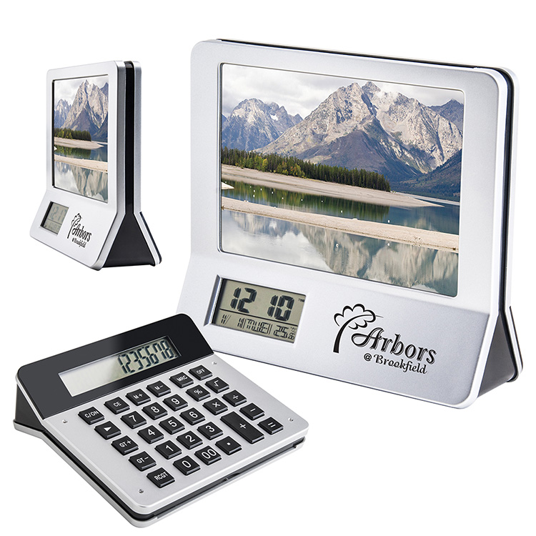 3-in-1 Calculator/Frame/Clock