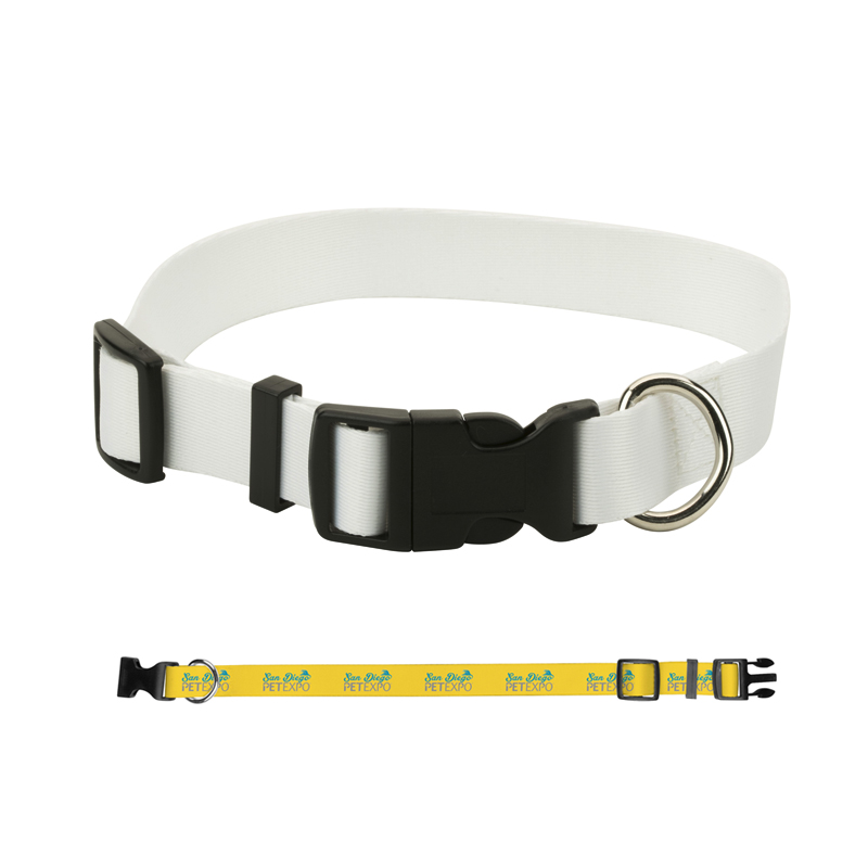"1"" Adjustable Nylon Pet Collar with Dye Sublimation."