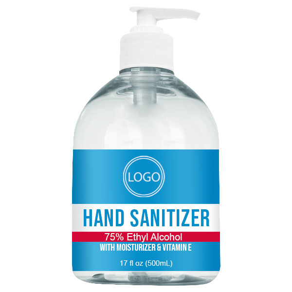 17 oz Gel Sanitizer Bottle with Pump